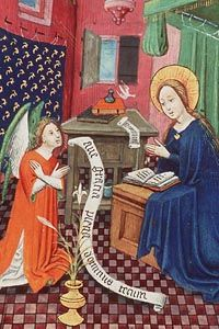 annunciation illumination banner - Google Search Medieval, Disney Characters, Fictional Characters, The Past, Banner, Disney Princess, German, Letters, Beautiful