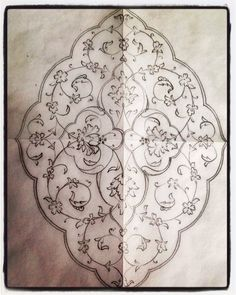 Şemse (eskiz) çalışması  Neslihan Atar Islamic Art Pattern, Arabic Pattern, Stencil Patterns, Pattern Art, Hand Embroidery Designs, Embroidery Patterns, Arabesque Pattern, Persian Motifs, Turkish Art