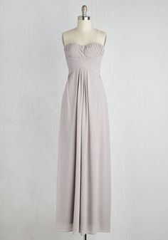 All Award Dress. Even though youre the presenter for the ceremony, the dove grey gown you sport for the evening deserves its own trophy! #grey #prom #modcloth