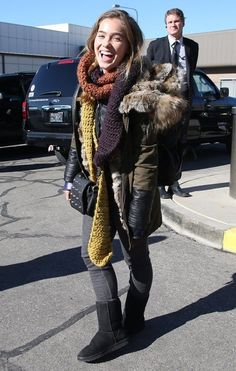 Haley Lu Richardson arriving for the 2015 Sundance Film Festival in Park City, Utah on January Haley Lu Richardson, Beautiful People, Beautiful Women, Sundance Film Festival, Double Take, Celebs, Celebrities, Powerful Women, Fur Coat