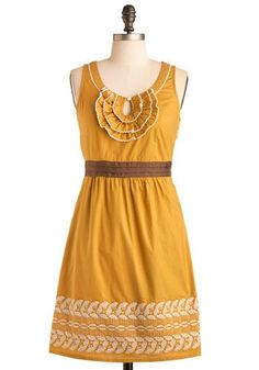 Cool summer wheat dress: love the color of mustard yellow... so called fashion... Check more at http://fashionie.top/pin/40109/