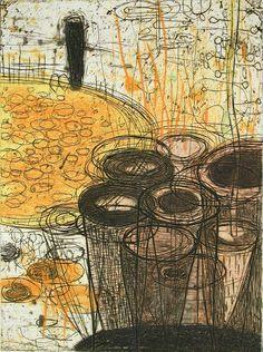 Akiko Taniguchi : Potential at Davidson Galleries Contemporary Printmaking, Contemporary Art, Collagraph Printmaking, Printmaking Ideas, Davidson Galleries, Print Artist, All Art, Creative Art, Graphic Art
