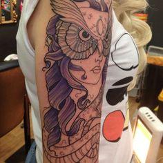 Stunning Athena tattoo #owl