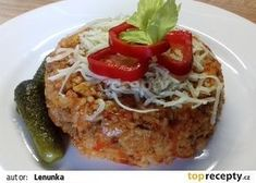 Srbské rizoto z mletého masa recept - TopRecepty.cz Eastern European Recipes, Risotto Recipes, 20 Min, Meatloaf, Tasty, Beef, Treats, Food And Drink, Red Peppers