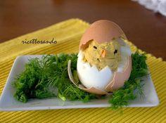 uova ripiene decorate
