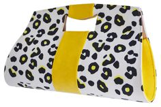Yello Clam bag !  Perfect for this season!  Dress it down  with Jeans or pair it with a plain black dress to create a statement!  #wowbagonline.com Plain Black, Clams, Clutch Bag, Fashion Forward, Gym Bag, Range, Pairs, Create, Dress
