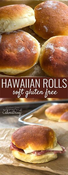 These super soft gluten free Hawaiian rolls are my favorite go-to rolls. Come see the recipe plus shaping videos for the perfect roll! http://glutenfreeonashoestring.com/gluten-free-hawaiian-rolls-with-bread-shaping-videos/