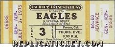 Five THE EAGLES unused paper replica concert tickets Collect, Scrapbook,made in the USA Eagles Tickets, Concert Tickets, Jennifer Rodriguez, Andrew Lawrence, Rock Concert, Vintage Scrapbook, Special Guest, Zeppelin, Rock And Roll