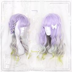 "Harajuku purple gradient curly wig SE9141   Japanese lolita curly wig SE9142   Coupon code ""cutekawaii"" for 10% off"