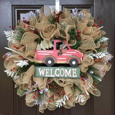 Woodland Christmas wreath, rustic Christmas decor, Christmas tree wreath, natural Christmas decorations on Etsy, $85.00