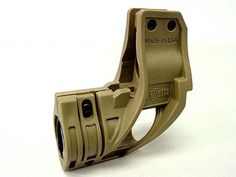 Elzetta Style ZFH1500 Tactical Flashlight Holder Tan by AirSoft. $16.99. FEATURES: Elzetta style ZFH1500 tactical flashlight holder. Glass-filled nylon construction. Designed to install a flashlight mounts on the front sight. Suitable for 18 to 28mm diameter cylindrical flashlights. Optional sling swivel switch activation or sling swivel protection with tailcap access. DETAILS: Color - Tan Weight - 85g Length - 80mm material - Nylon fiber