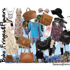 Boho,fringes and flowers new fashion post on the blog www.thefashionreflexions.com Enjoy!!