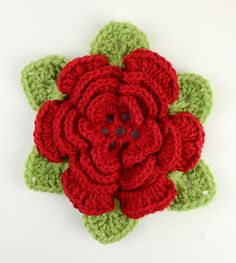 ...pattern for a wild Irish Rose, which also includes instructions for leaves *