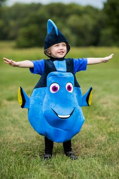 This Child Deluxe Dory Costume from the movie Finding Dory is an officially licensed Disney character costume. Cute Kids Halloween Costumes, Halloween Carnival, Family Costumes, Couple Halloween, Halloween Outfits, Halloween Make Up, Halloween Party, Halloween Decorations, Dory Costume Toddler