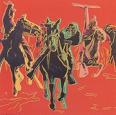 Andy Warhol, Cowboys and Indians: Action Picture (FS.II.375), 1986 Screenprint on Lenox Museum Board, 36 x 36 in (91.4 x 91.4 cm) Signed and numbered in pencil lower left. Edition of 36 TP