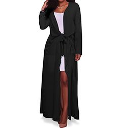 "Women's Chiffon Cardigan,LLQ Women Long Sleeve Cover Up Lightweight Long Loose Chiffon Maxi Cardigan  Our clothing has already registered our brand ""LLQ"", and if you see our branded product in the recommended purchase, it is a nonconforming product and our lawyer will stop these actions.  .This Maxi Chiffon cardigan with a pocket, belt, because it is chiffon material, it will not be wrinkled, smooth surface, elegant fashion, beach vacation, sunscreen preferred  Please read the size tab..."