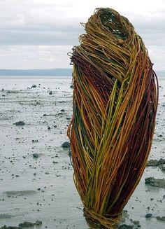 Contemporary baskets and fiber art by Donna Crispin Abstract Sculpture, Sculpture Art, Metal Sculptures, Bronze Sculpture, Land Art, Contemporary Baskets, Contemporary Art, Installation Art, Art Installations
