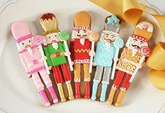 Gingerbread nutcracker cookies