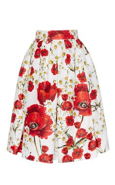 Silk Cotton Floral Printed Skirt by DOLCE & GABBANA Now Available on Moda Operandi