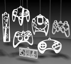 Our two gamer girls on staff giggled and squealed at these awesome controller ornaments!     If you've got a loved one who loves her/his video games, why not indulge in a very geeky Christmas and buy these for your tree?