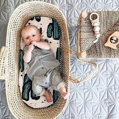 With a little cutie like @minimockspetra I would just hang by that moses basket playing peekaboo all day.. we sell the moses baskets but the sheet inside is da bomb.. To find the sheet search 'spike' on dtll.com.au (link in profile) #cactus #bassinette #b