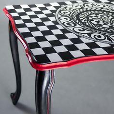 Table Modern Baroque Mandala by ArtPoPo on Etsy