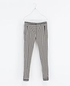 HOUNDSTOOTH TROUSERS - Trousers - Woman | ZARA Greece