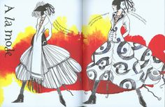 The Fashion Designers Doodle Sketchbook. Pages that have been drawn into    The Fashion Designers Doodle Sketchbook. A la mode     mg