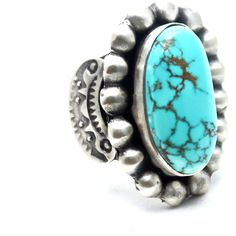 Ami Navajo Ring ($180) ❤ liked on Polyvore featuring jewelry, rings, silver, long rings, band rings, navajo jewelry, native american rings and hand crafted rings