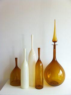 Hand-made Blown Glass Vessels by Joe Cariati.