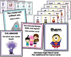 Mighty Minions and Don't forget the FREE Frozen Sight Words Game!