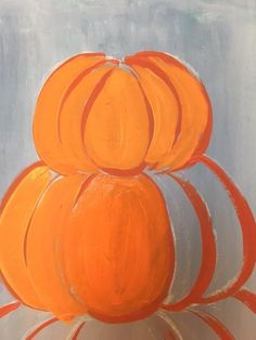 Easy canvas painting for beginners step by step. Learn how to paint a pumpkin topiary painting on canvas! Paint this and more fall canvas paintings! Pumpkin Canvas Painting, Halloween Canvas Paintings, Cute Canvas Paintings, Canvas Painting Tutorials, Halloween Painting, Autumn Painting, Fall Paintings, Canvas Art, Fall Crafts