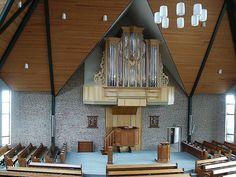 Interior of the Gereformeerde Gemeente (Reformed Congregations) in Kootwijkerbroek. 1.780 Seats.