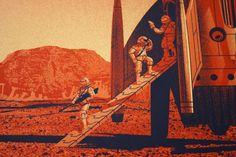 Muy buena película, me encantó! Y  a ustedes?   the martian illustrations - Google Search