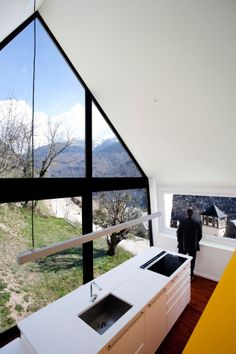 Vernacular Stone, slate and glass house in Canejan, Val d'Aran, Catalonia Pyrenees, Spain by Cadaval & Sola-Morales Architects