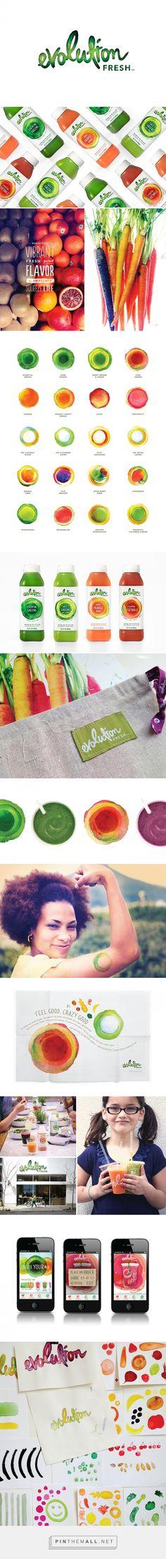 Evolution Fresh juice packaging design by Hornall Anderson (USA) - http://www.packagingoftheworld.com/2016/08/evolution-fresh.html