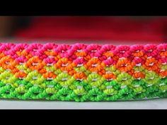 ▶ tutorial como hacer una pulsera macrame punto panal de abeja - YouTube