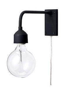 Wandlampe Schlicht und schön, eine Wandlampe die vielseitig einsetzbar ist, von Bloomingville (Incl. Elektrik, ohne Leuchtmittel).