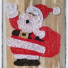 Santa Claus String Art