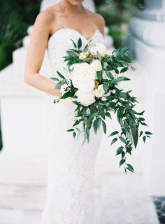 This bouquet is a classic dream: http://www.stylemepretty.com/2015/08/28/black-tie-palm-beach-wedding/ | Photography: Jessica Lorren - http://jessicalorren.com/
