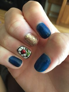 Beauty and the Beast Nails 1