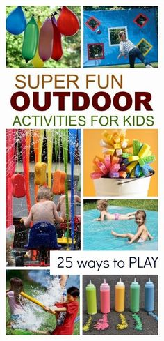 25 SUPER FUN Outdoor Activities for Kids; so many fun ways to get outside & play!