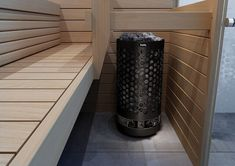 With built in BWT technology, Helo Ringo Black offers a gentle sauna experience! Electric Sauna Heater, Adjustable Legs, Modern, Black, Design, Technology, Tech, Trendy Tree, Black People