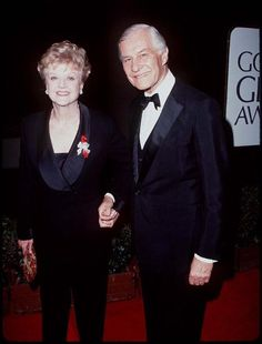 Angela Lansbury and husband Peter Shaw