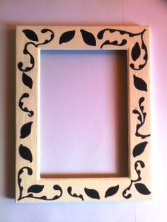 Painted frame, made by me :)