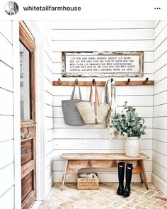 """3,981 Likes, 38 Comments - Dreamy Whites Lifestyle (@dreamywhiteslifestyle) on Instagram: """"I love @whitetailfarmhouse beautiful mud room. I love seeing our products in someone else's home.…"""""""
