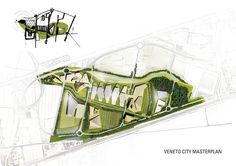 View the full picture gallery of Veneto Green City - Masterplan Landscape Architecture Drawing, Revit Architecture, Architecture Visualization, Architecture Board, Landscape Architects, Architect Drawing, Architect Design, Green Landscape, Landscape Plans