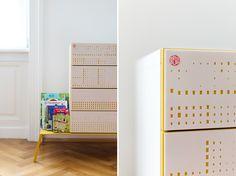 Interesting Faces, Magazine Rack, Designer, Cabinet, Storage, Holiday Decor, Furniture, Home Decor, Ad Home