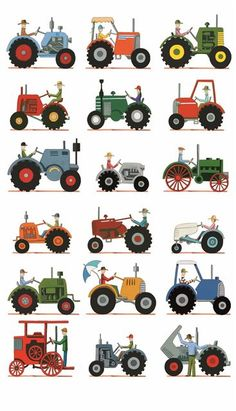 we could print and enlarge...put them in front of wagons?? do tractor trains?