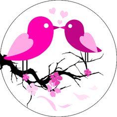 Oblaten mit Vogelmotiv